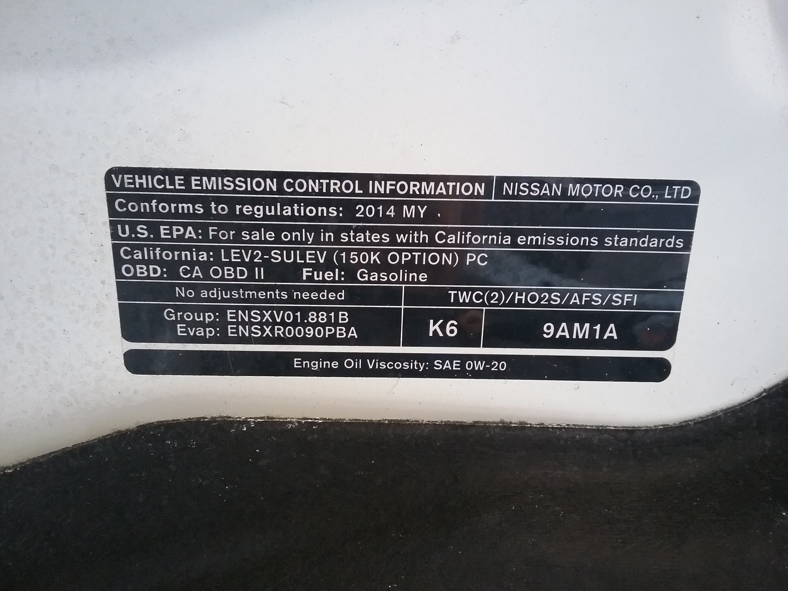 2014 Nissan Sentra SR Stock # A714 – A Plus Auto Salvage